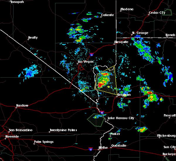 Radar Image for Severe Thunderstorms near Dolan Springs, AZ at 8/12/2017 1:56 PM MST