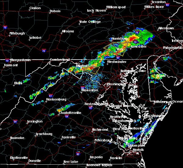Radar Image for Severe Thunderstorms near Rohrersville, MD at 8/12/2017 5:23 PM EDT