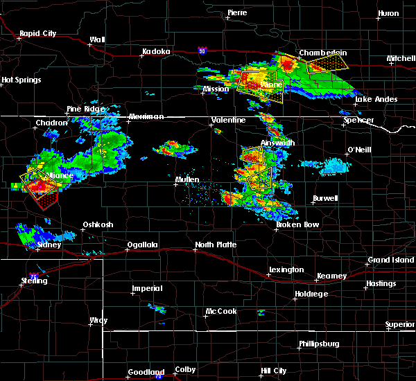 Radar Image for Severe Thunderstorms near Ainsworth, NE at 8/12/2017 4:36 PM CDT