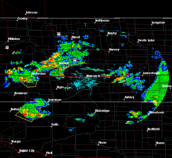 Radar Image for Severe Thunderstorms near New England, ND at 8/12/2017 4:17 PM MDT