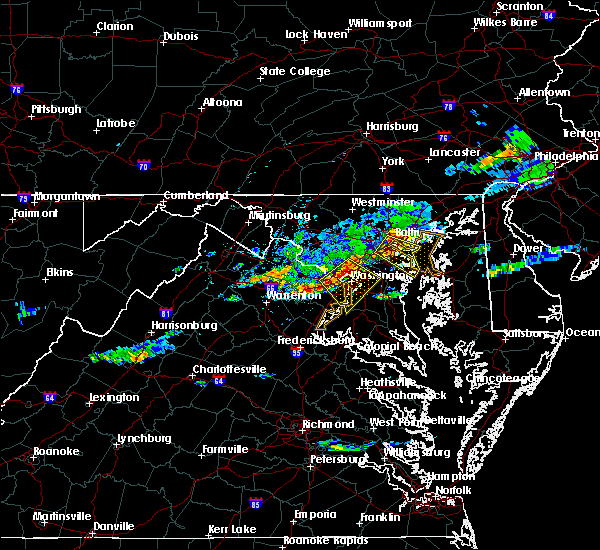 Radar Image for Severe Thunderstorms near Arbutus, MD at 8/12/2017 7:40 PM EDT