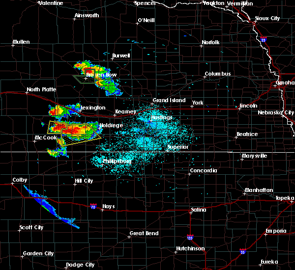 Radar Image for Severe Thunderstorms near Oxford, NE at 8/14/2017 12:07 AM CDT
