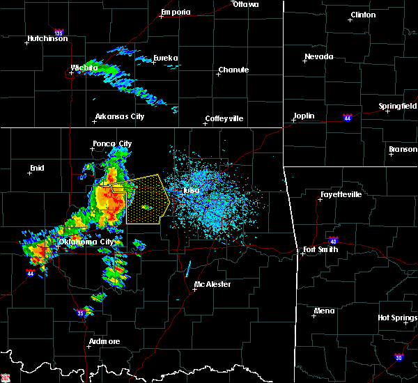Radar Image for Severe Thunderstorms near Prue, OK at 8/15/2017 4:16 PM CDT
