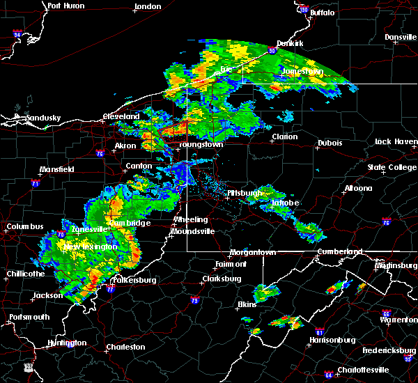Radar Image for Severe Thunderstorms near Cortland, OH at 8/17/2017 7:10 PM EDT