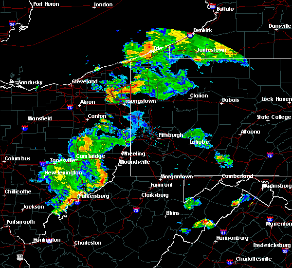 Radar Image for Severe Thunderstorms near Cortland, OH at 8/17/2017 7:25 PM EDT