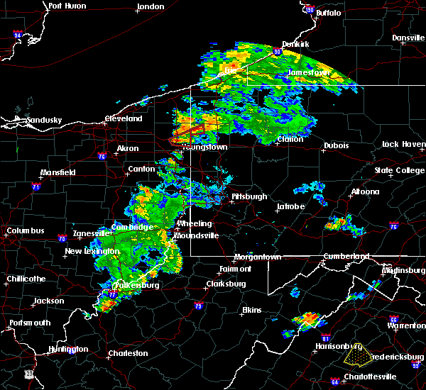 Radar Image for Severe Thunderstorms near Girard, OH at 8/17/2017 7:53 PM EDT