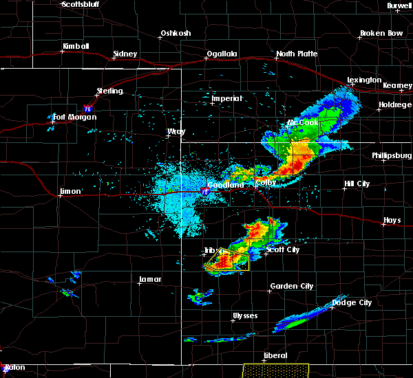 Radar Image for Severe Thunderstorms near Marienthal, KS at 8/17/2017 9:26 PM CDT