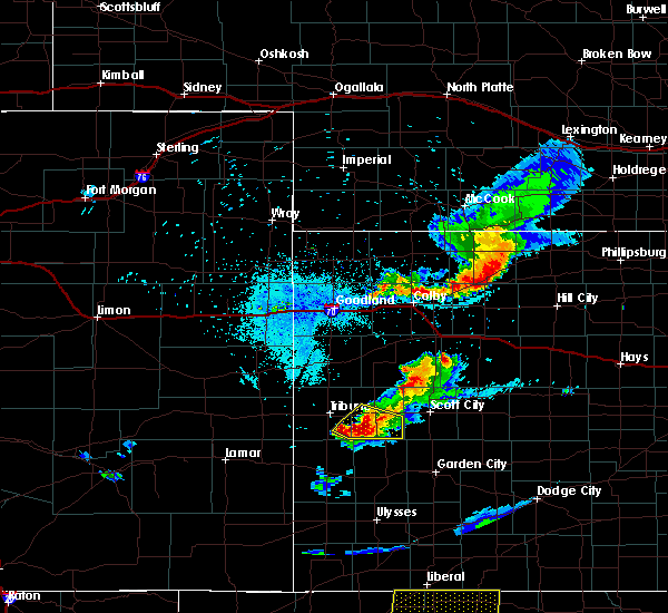 Radar Image for Severe Thunderstorms near Marienthal, KS at 8/17/2017 9:35 PM CDT