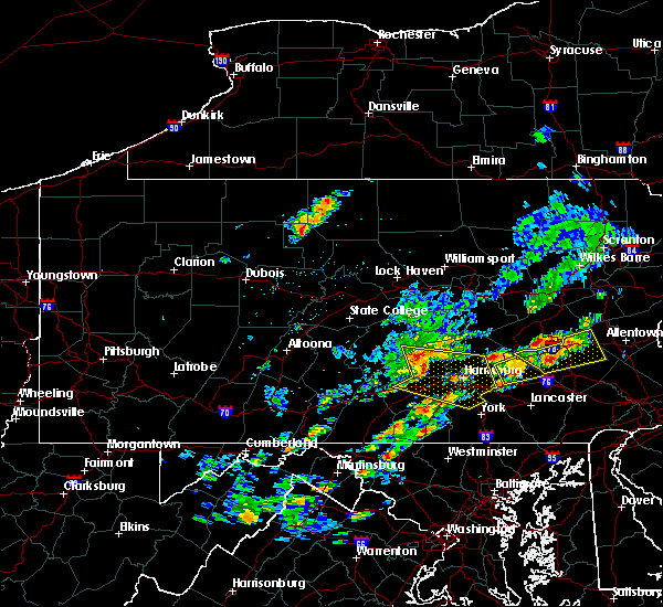 Radar Image for Severe Thunderstorms near Rutherford, PA at 8/18/2017 2:40 PM EDT