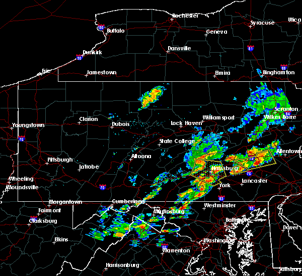 Radar Image for Severe Thunderstorms near Hershey, PA at 8/18/2017 3:01 PM EDT