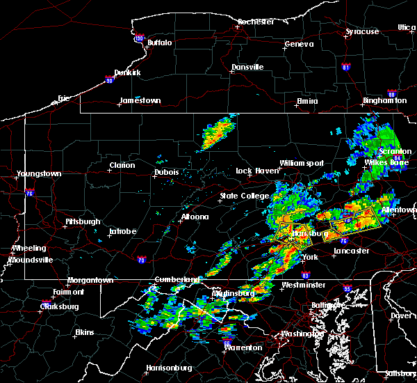 Radar Image for Severe Thunderstorms near Hershey, PA at 8/18/2017 3:10 PM EDT