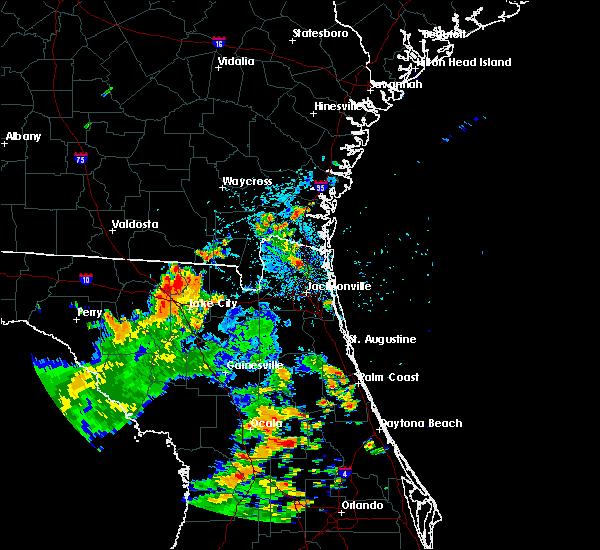 Radar Image for Severe Thunderstorms near Jacksonville, FL at 8/18/2017 3:34 PM EDT