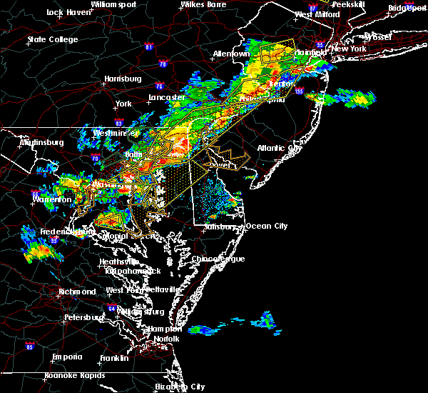 Radar Image for Severe Thunderstorms near Riverside, MD at 8/18/2017 6:26 PM EDT