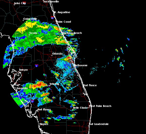 Radar Image for Severe Thunderstorms near Merritt Island, FL at 8/18/2017 6:55 PM EDT