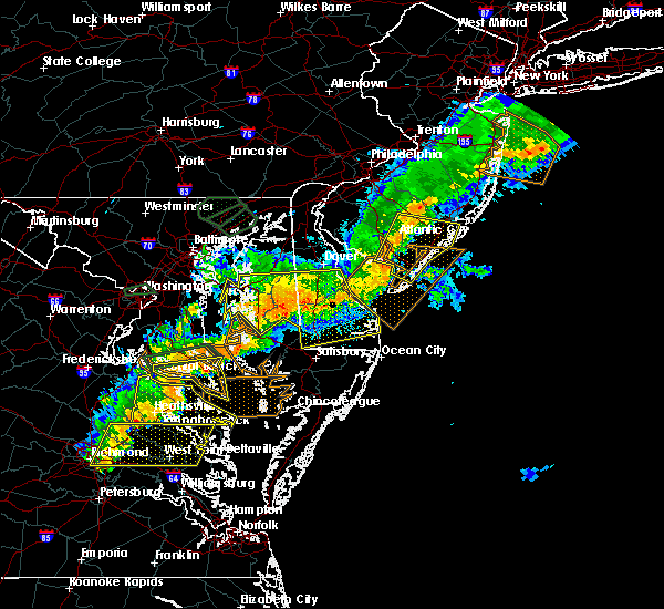 Radar Image for Severe Thunderstorms near Buena, NJ at 8/18/2017 8:15 PM EDT