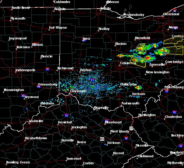 Radar Image for Severe Thunderstorms near St. Louisville, OH at 8/19/2017 2:31 PM EDT
