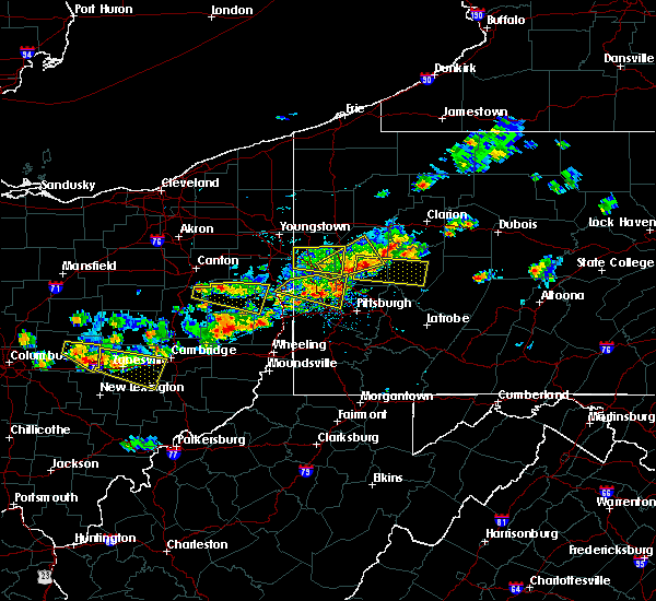 Radar Image for Severe Thunderstorms near Kittanning, PA at 8/19/2017 3:52 PM EDT