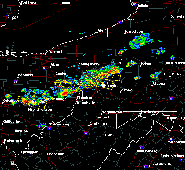 Radar Image for Severe Thunderstorms near Kiskimere, PA at 8/19/2017 3:58 PM EDT