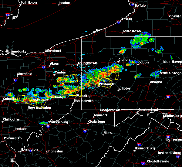 Radar Image for Severe Thunderstorms near Kittanning, PA at 8/19/2017 4:10 PM EDT