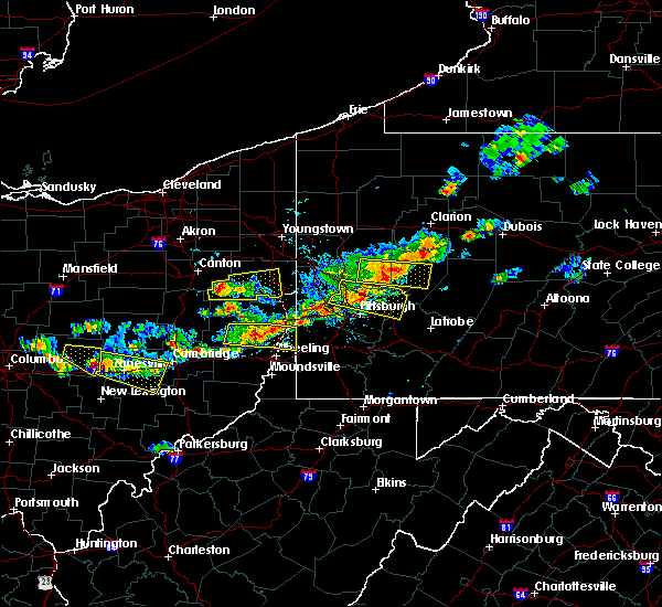 Radar Image for Severe Thunderstorms near Lisbon, OH at 8/19/2017 4:14 PM EDT