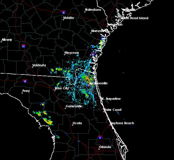 Radar Image for Severe Thunderstorms near Yulee, FL at 8/19/2017 4:29 PM EDT