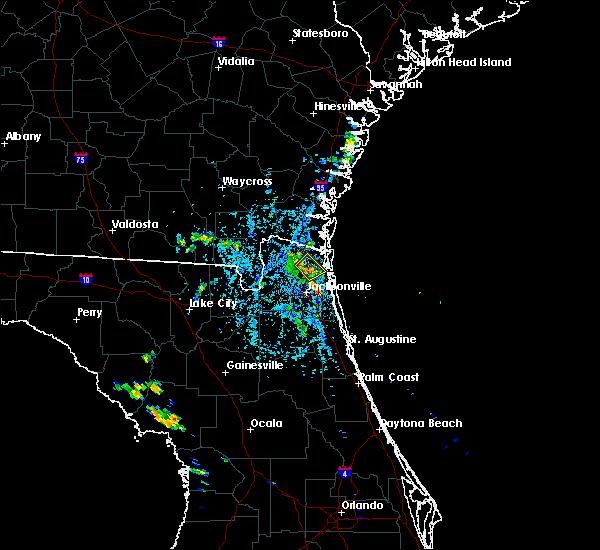 Radar Image for Severe Thunderstorms near Yulee, FL at 8/19/2017 4:36 PM EDT