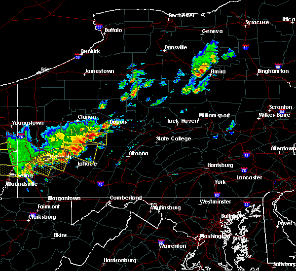 Radar Image for Severe Thunderstorms near Smicksburg, PA at 8/19/2017 4:47 PM EDT