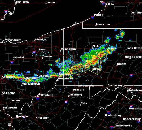 Radar Image for Severe Thunderstorms near Youngstown, PA at 8/19/2017 4:50 PM EDT