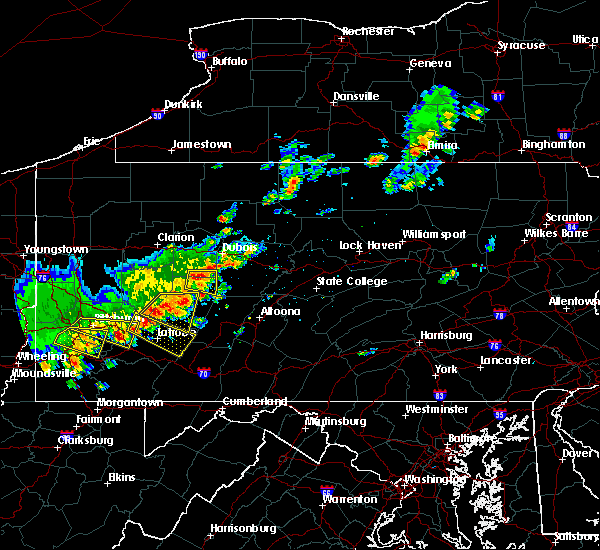 Radar Image for Severe Thunderstorms near Rossiter, PA at 8/19/2017 4:57 PM EDT
