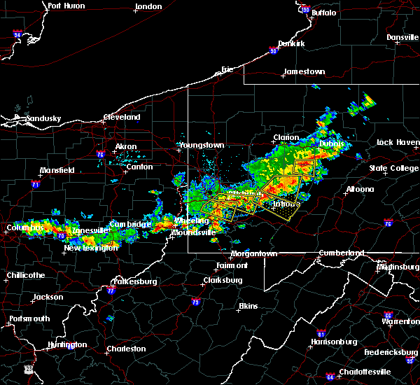Radar Image for Severe Thunderstorms near Atwood, PA at 8/19/2017 4:59 PM EDT