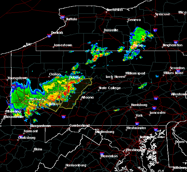 Radar Image for Severe Thunderstorms near Rossiter, PA at 8/19/2017 5:12 PM EDT