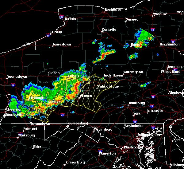 Radar Image for Severe Thunderstorms near Osceola Mills, PA at 8/19/2017 5:33 PM EDT