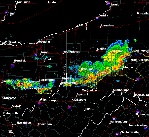 Radar Image for Severe Thunderstorms near Youngstown, PA at 8/19/2017 5:37 PM EDT