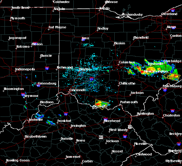 Radar Image for Severe Thunderstorms near West Union, OH at 8/19/2017 6:01 PM EDT