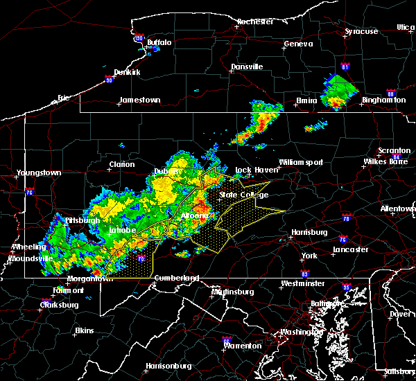 Radar Image for Severe Thunderstorms near Longfellow, PA at 8/19/2017 6:07 PM EDT