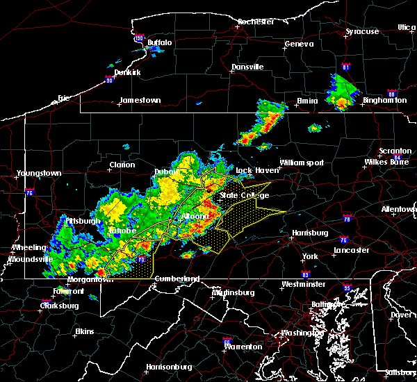 Radar Image for Severe Thunderstorms near Lemont, PA at 8/19/2017 6:13 PM EDT
