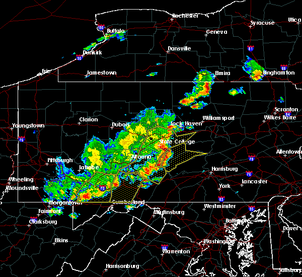 Radar Image for Severe Thunderstorms near Longfellow, PA at 8/19/2017 6:31 PM EDT