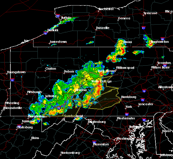 Radar Image for Severe Thunderstorms near New Buffalo, PA at 8/19/2017 6:43 PM EDT