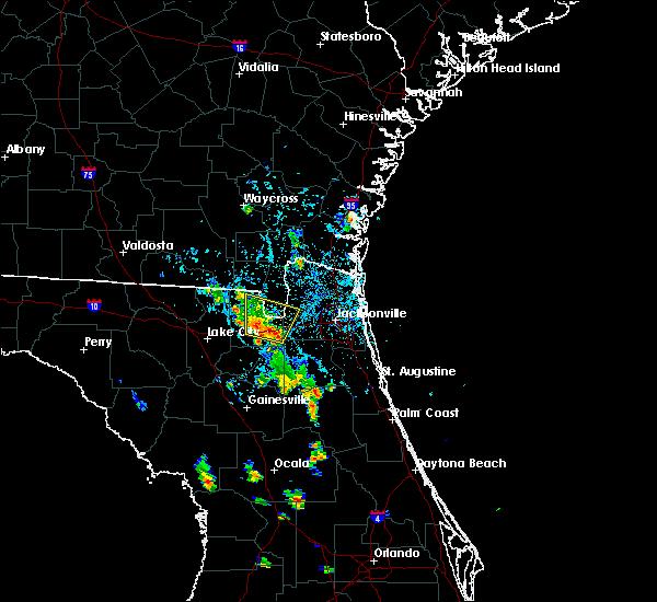 Radar Image for Severe Thunderstorms near Glen St. Mary, FL at 8/19/2017 7:05 PM EDT