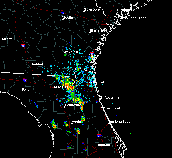 Radar Image for Severe Thunderstorms near Jacksonville, FL at 8/19/2017 7:05 PM EDT