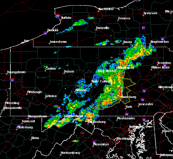 Radar Image for Severe Thunderstorms near Orrstown, PA at 8/19/2017 7:35 PM EDT