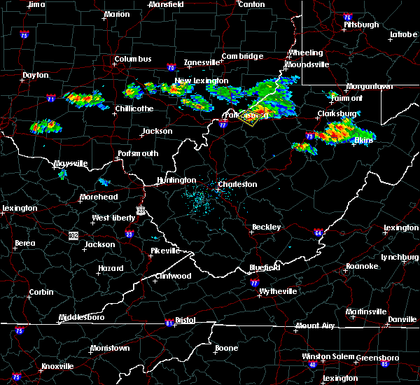 Radar Image for Severe Thunderstorms near Cairo, WV at 8/19/2017 7:35 PM EDT
