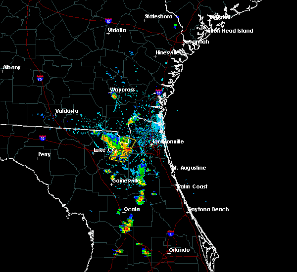 Radar Image for Severe Thunderstorms near Jacksonville, FL at 8/19/2017 7:44 PM EDT