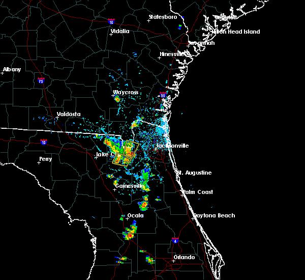 Radar Image for Severe Thunderstorms near Glen St. Mary, FL at 8/19/2017 7:44 PM EDT