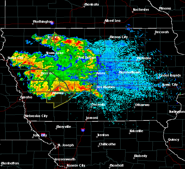 Radar Image for Severe Thunderstorms near Greenfield, IA at 8/21/2017 2:10 AM CDT