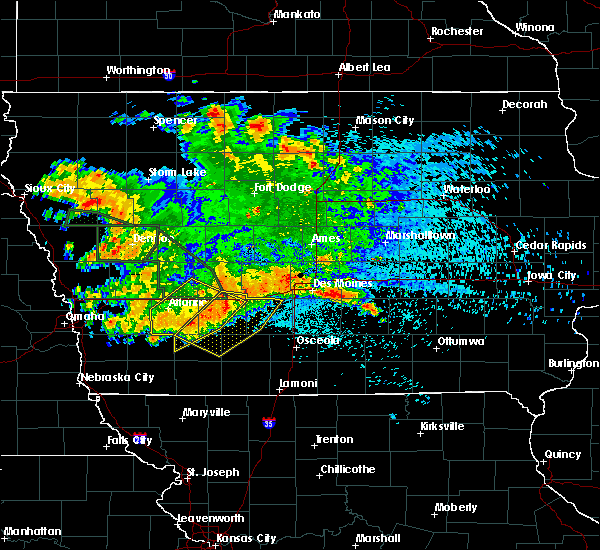 Radar Image for Severe Thunderstorms near Cromwell, IA at 8/21/2017 2:50 AM CDT