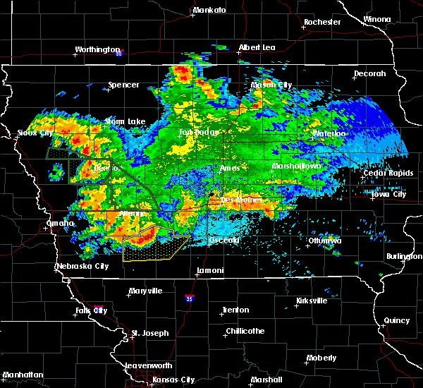 Radar Image for Severe Thunderstorms near Orient, IA at 8/21/2017 3:33 AM CDT