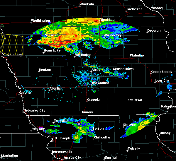 Radar Image for Severe Thunderstorms near Ayrshire, IA at 8/21/2017 2:28 PM CDT