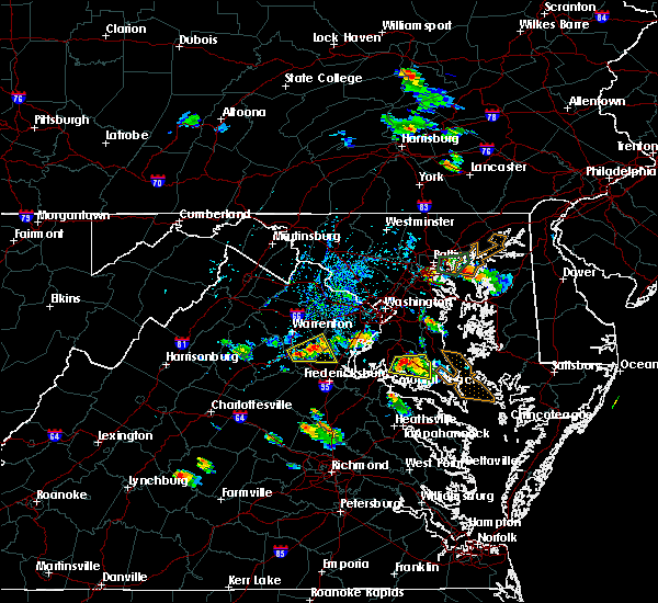 Radar Image for Severe Thunderstorms near Charlotte Hall, MD at 8/21/2017 4:56 PM EDT