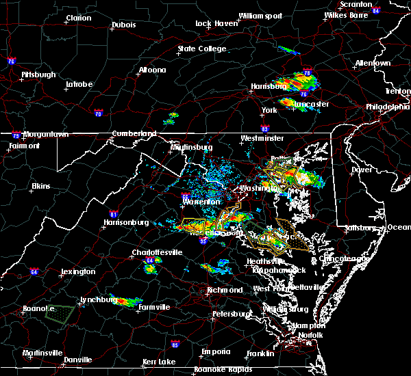 Radar Image for Severe Thunderstorms near Arbutus, MD at 8/21/2017 5:51 PM EDT